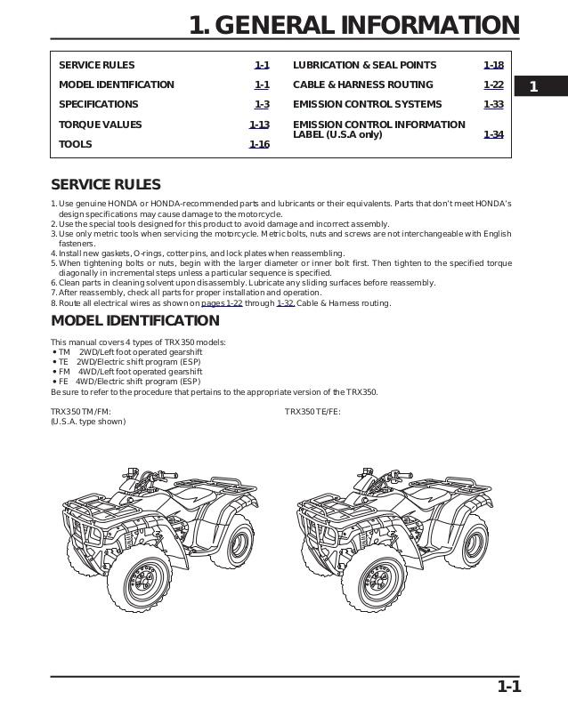 Bz 6832 Honda 350 Rancher Engine Diagram Download Diagram