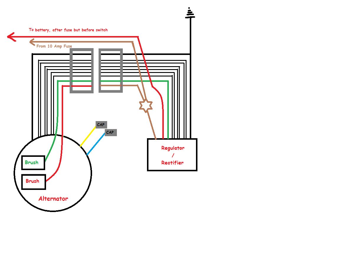 basic xs650 headlight wiring diagram tl 4871  well xs650 bobber wiring diagram on brush alternator  well xs650 bobber wiring diagram on