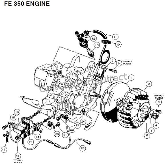 gas golf cart club car rpm limiter wiring diagram  hei