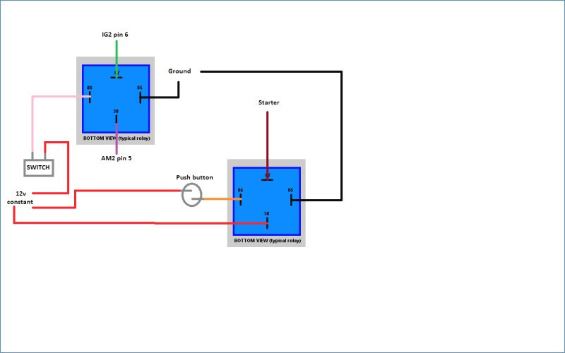 Push Button Horn Wiring Diagram
