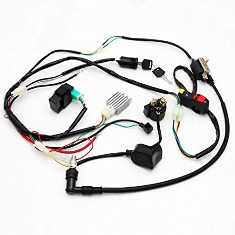 pit bike wiring harness hv 9357  pit bike wiring diagram electric start  pit bike wiring diagram electric start