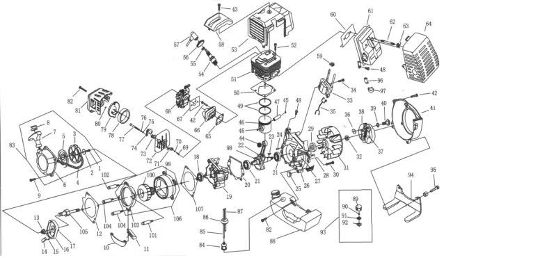 Amazing 49Cc 2 Stroke Gas Engine Parts Diagram Wiring Diagram Wiring Cloud Hisonepsysticxongrecoveryedborg