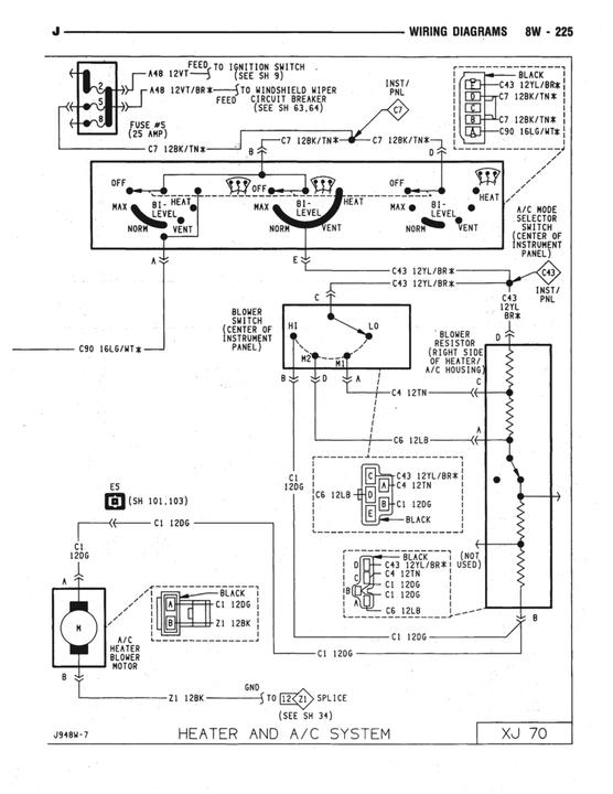 Do 0465  2003 Jeep Grand Cherokee Blower Motor Power Feed
