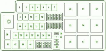 Ek 2891 2008 Ford Fusion Relay And Fuse Box Diagram Free Diagram