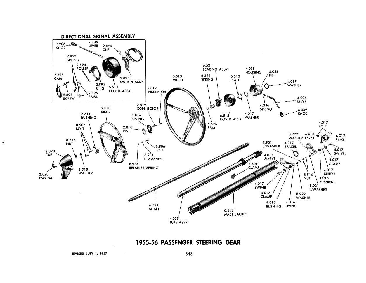 1955 chevy steering column diagram wc 9474  chevrolet truck steering column diagram  chevrolet truck steering column diagram