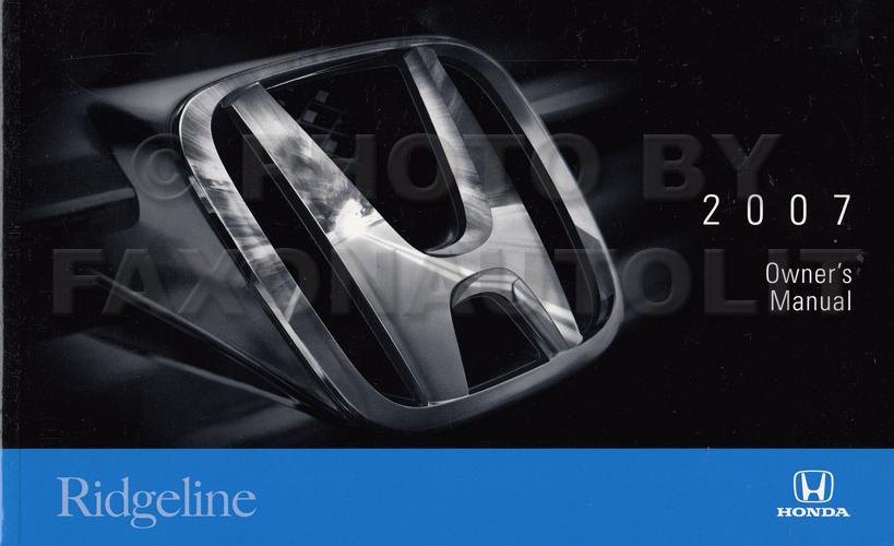 Sensational 2007 Honda Ridgeline Owners Manual Original Wiring Cloud Gufailluminateatxorg