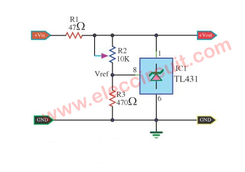 Terrific Tl431 Shunt Regulator Circuit Eleccircuit Com Wiring Cloud Timewinrebemohammedshrineorg