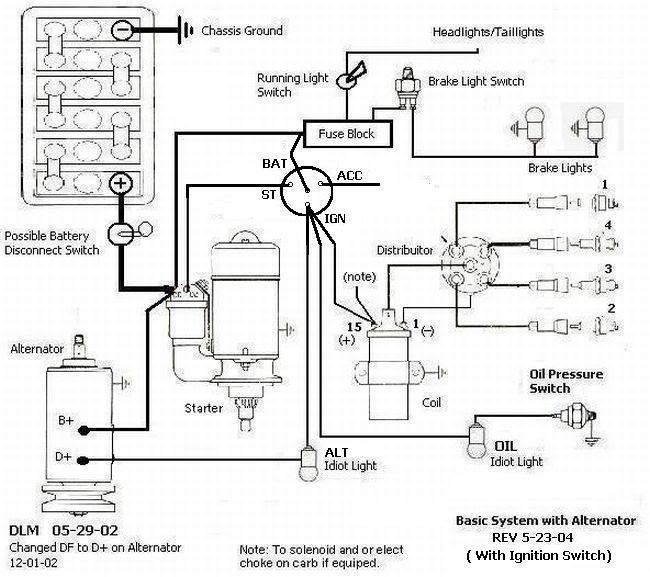 vw bug wiring diagram for dune buggy