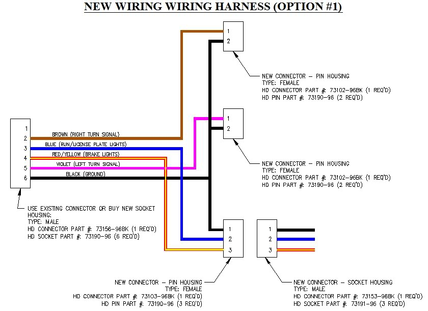 brake light wiring diagram for 1996 harley electra glide