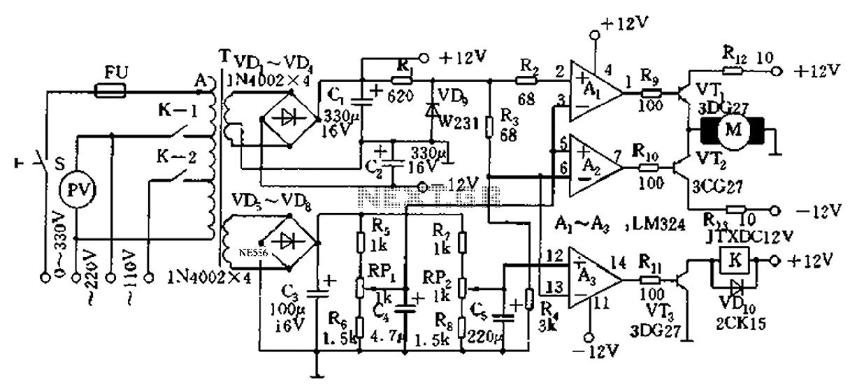 SK_0030 Ac Voltage Regulator Circuit Free Diagram