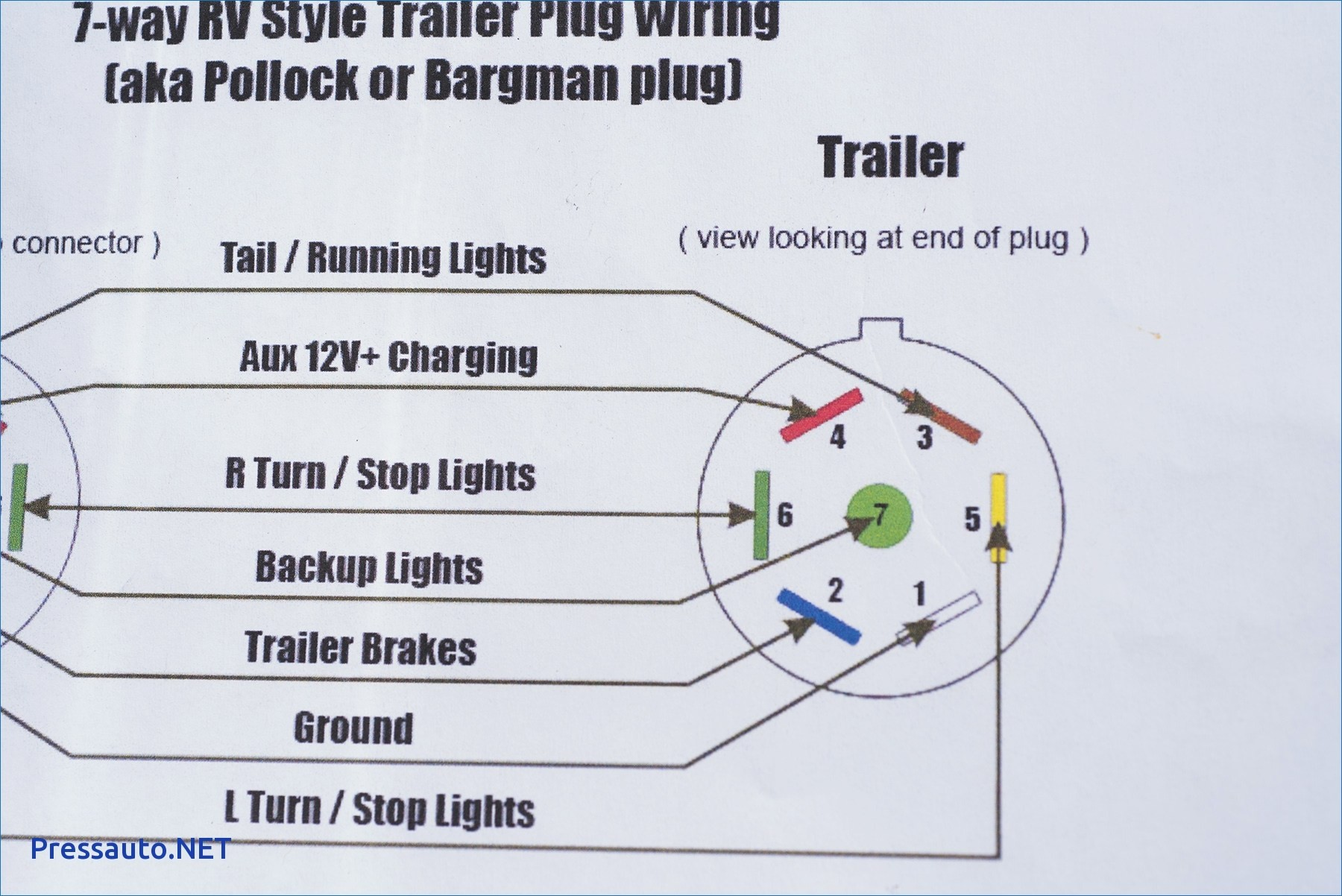 Abn Round 400 Pin Trailer Connector to Flat 40 Way Trailer Wiring 400 ...