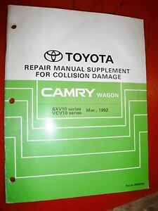 Prime 1992 Toyota Camry Wagon Factory Collision Damage Repair Manual Wiring Cloud Mousmenurrecoveryedborg