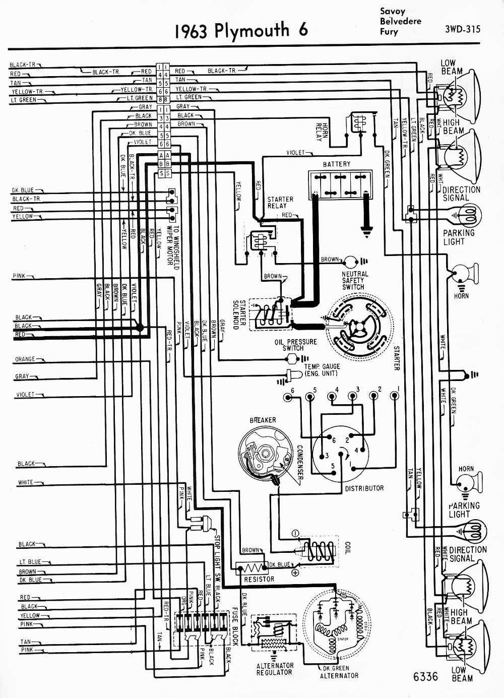 Amazing Wiring Diagrams Of 1963 Plymouth 6 Savoy Belvedere And Fury Part 2 Wiring Cloud Hemtshollocom
