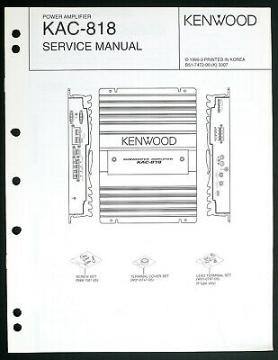 Strange Kenwood Kac X810D Ps810D Original Power Amplifier Service Manual Wiring Cloud Ittabpendurdonanfuldomelitekicepsianuembamohammedshrineorg