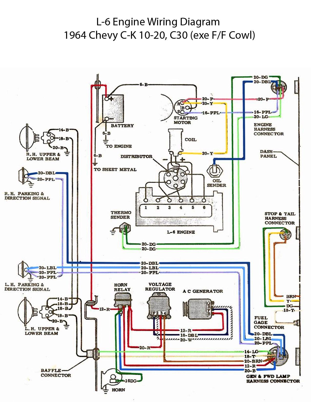Wondrous Electric L 6 Engine Wiring Diagram 60S Chevy C10 Wiring Wiring Cloud Cranvenetmohammedshrineorg