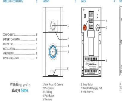 Super 6 Wire Doorbell Wiring Diagram New Bharg031 Ring User Manual Wiring Cloud Gufailluminateatxorg