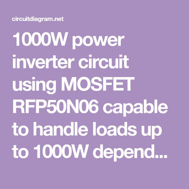 Vg 2503 1000w Power Inverter Circuit Schematic Wiring