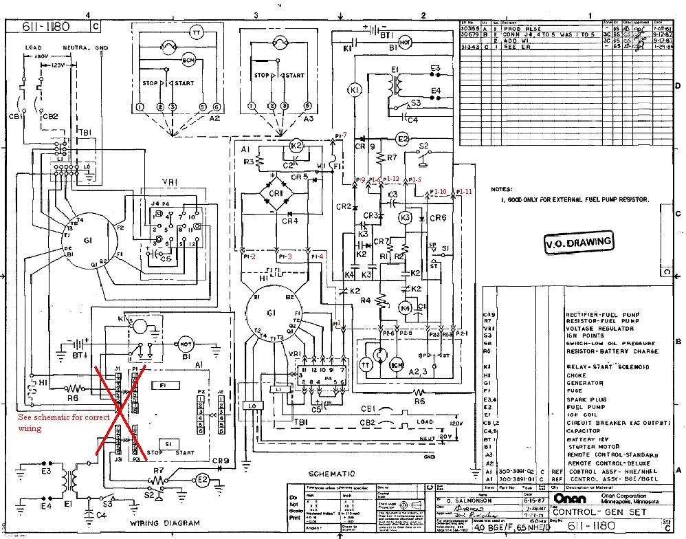 onan generator wiring diagram 611 1267  schematic wiring