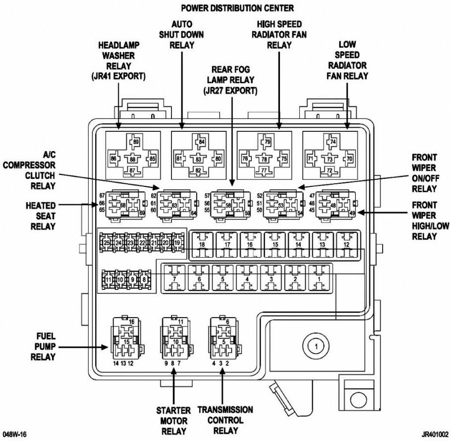 2006 chrysler 300 srt8 fuse box diagram