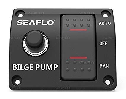 Surprising Amazon Com Seaflo 3 Way Bilge Pump Switch Panel Automatic Off Wiring Cloud Uslyletkolfr09Org