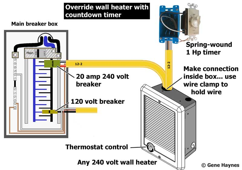 Cadet 240v Baseboard Heater Wiring Diagram