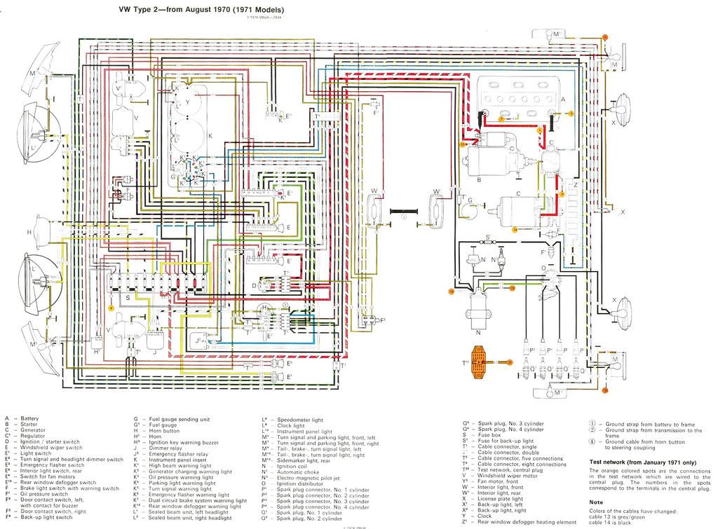 VZ_0594] Wiring Diagram For Volkswagen Type 2 From August 1970 1971 Models Schematic  WiringHete Subd Hendil Mohammedshrine Librar Wiring 101