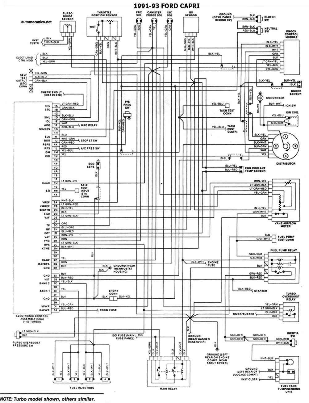 car manuals & literature 1983 ford mustang and mercury capri wiring  diagrams schematics sheets set oem guidohof  guidohof