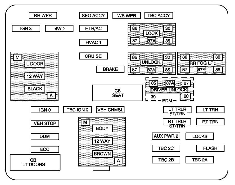 Terrific Chevrolet Suburban 2004 Fuse Box Diagram Auto Genius Wiring Cloud Rometaidewilluminateatxorg