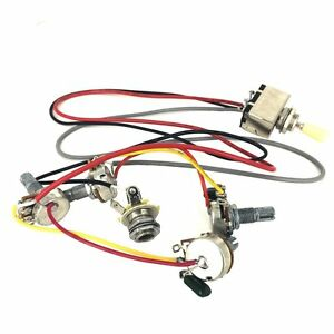 Miraculous Wiring Harness 3 Way Toggle Switch 2V2T 500K Pots Jack Les Paul Lp Wiring Cloud Itislusmarecoveryedborg