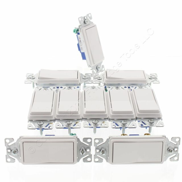 Pleasing 5 Cooper White Decorator Rocker Light Switches 15A Single Pole 120 Wiring Cloud Gufailluminateatxorg