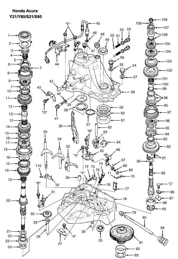 Fl 6729 2001 Honda Civic Transmission Diagram Schematic Wiring