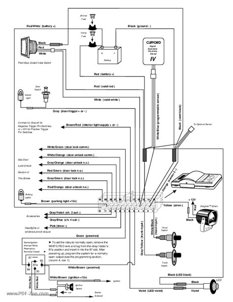 diagram clifford wiring alarms b134718b - wiring diagrams  fold.tear.lesvignoblesguimberteau.fr