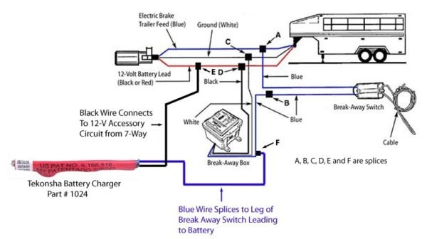 trailer with electric brakes wiring diagram  2n ford