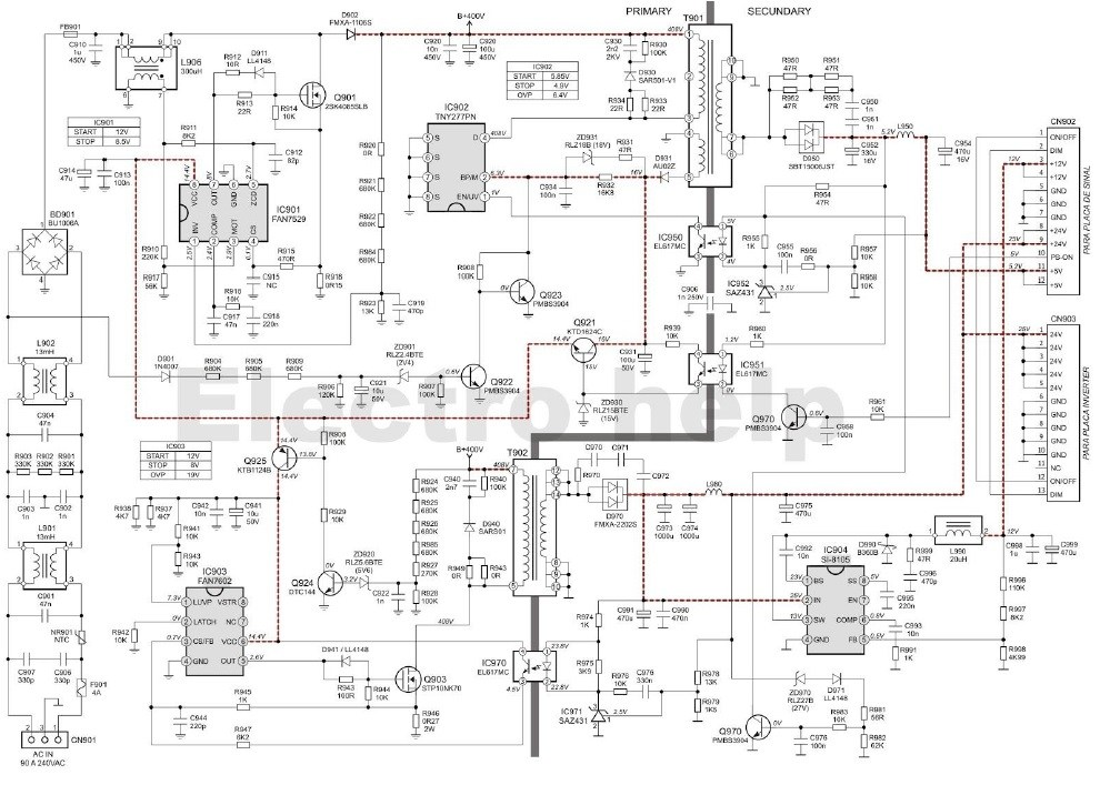 Vb 1681  Atx Smps Smps Circuit Atx Schematic Dna1005a