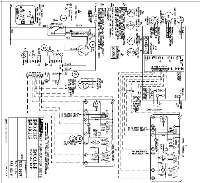 Lennox Heat Pump Wiring Diagram - Collection
