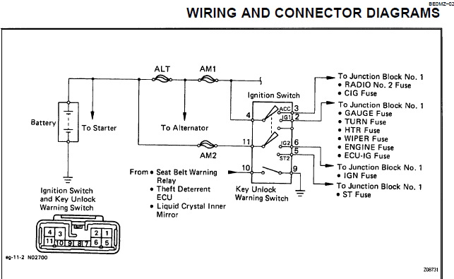 Hm 0061 Wiring Diagram For Instrument Cluster For 91 Ls400