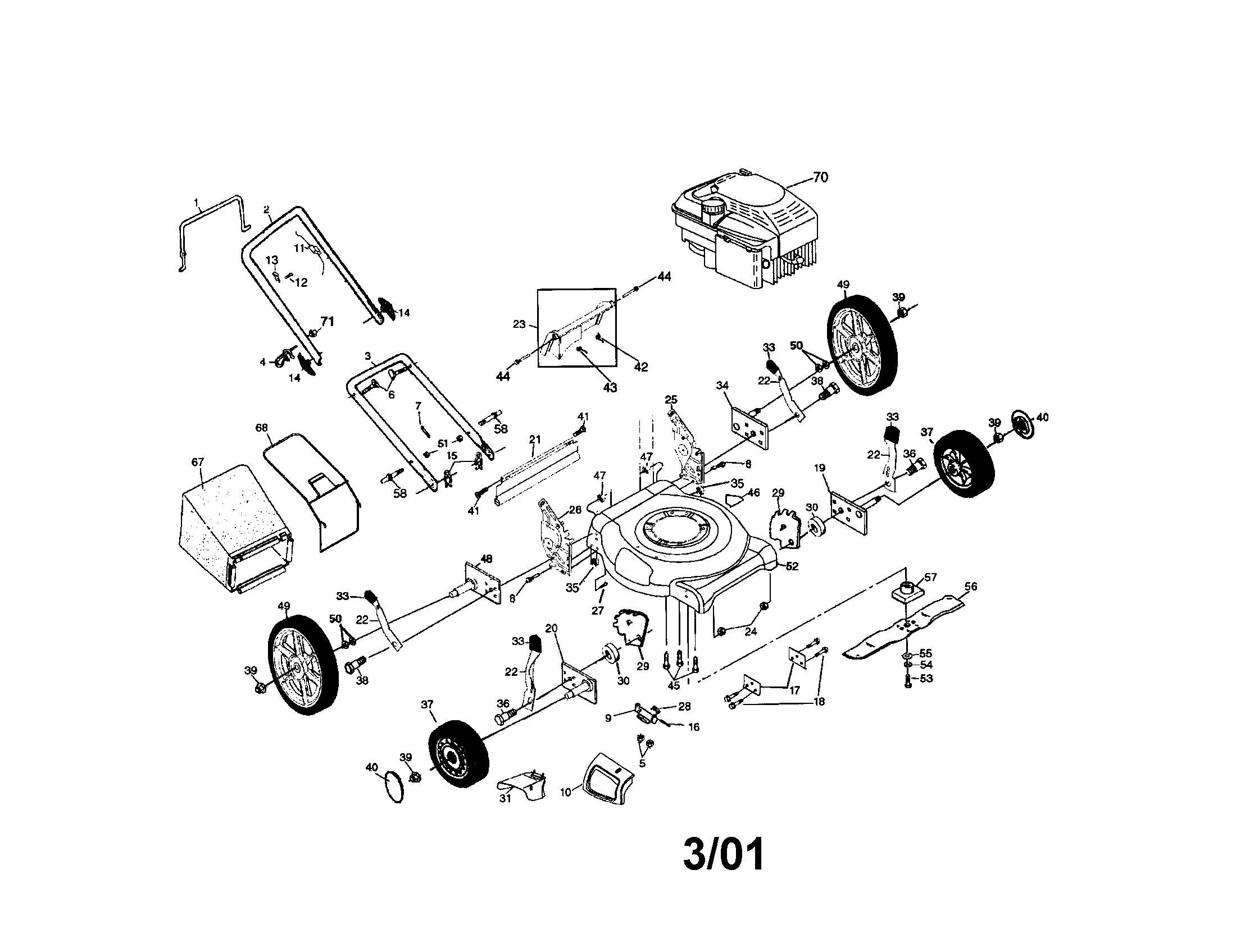 Rb 1150  Craftsman Lawn Mower Engine Parts Diagram