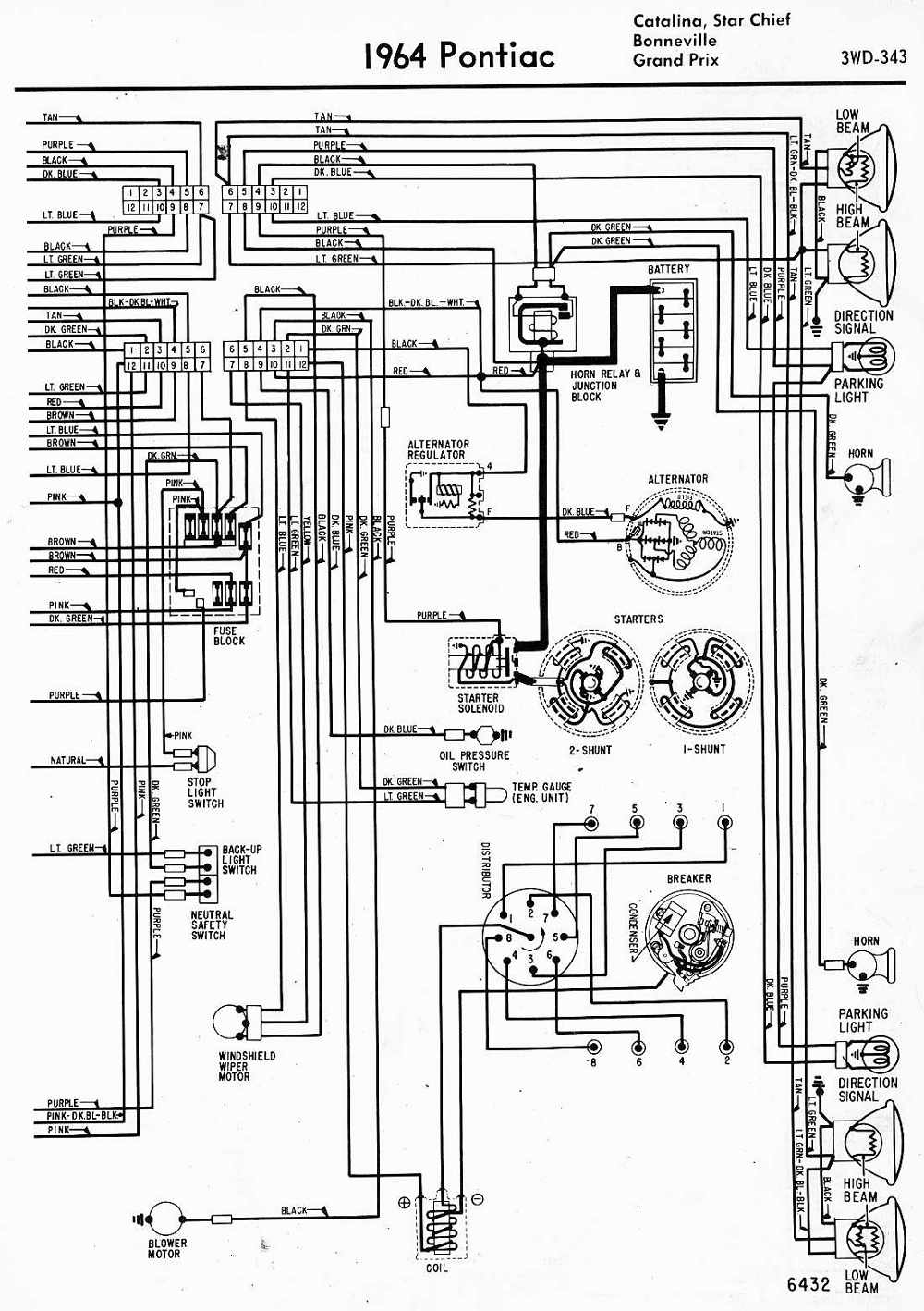 VL_4259] Wiring Diagrams Of 1964 Pontiac Catalina Star Chief Bonneville And Grand  Prix Part 2 Download DiagramInoma Ultr Xeira Mohammedshrine Librar Wiring 101