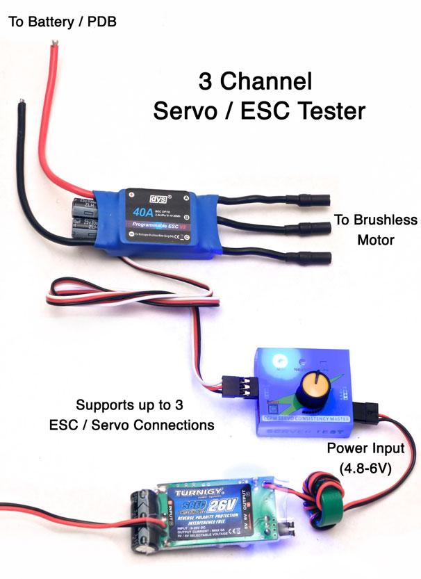 Awe Inspiring 3 Channel Servo Esc Tester Flying Tech Wiring Cloud Hemtegremohammedshrineorg