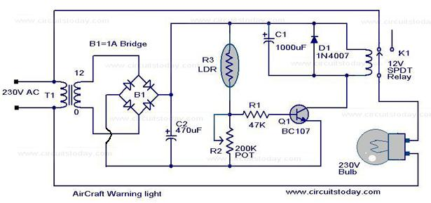 Admirable Low Cost Air Craft Warning Light Circuit Using Ldr Wiring Cloud Picalendutblikvittorg