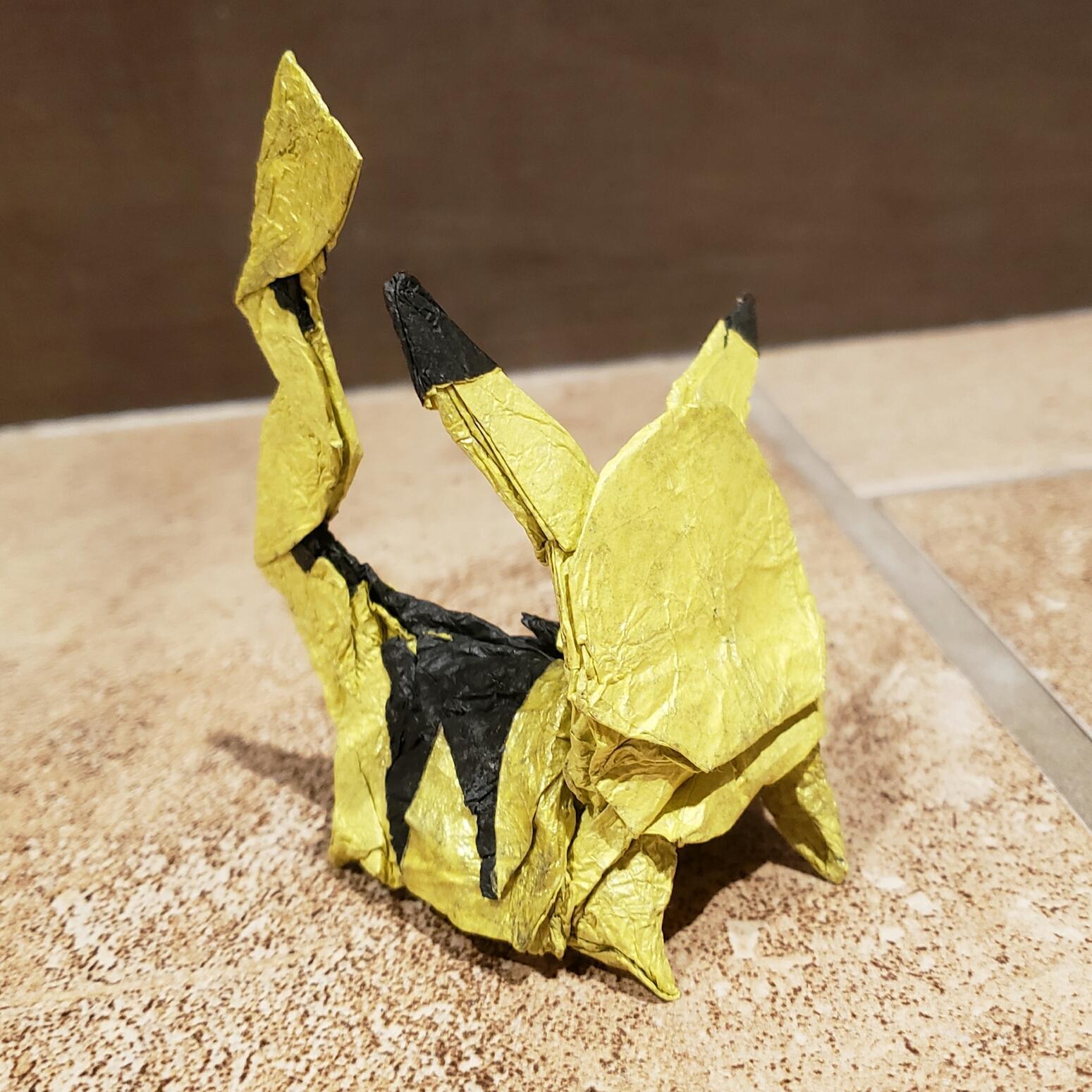 Paper Pikachu | How to make paper pikachu | Origami pikachu ... | 1549x1549