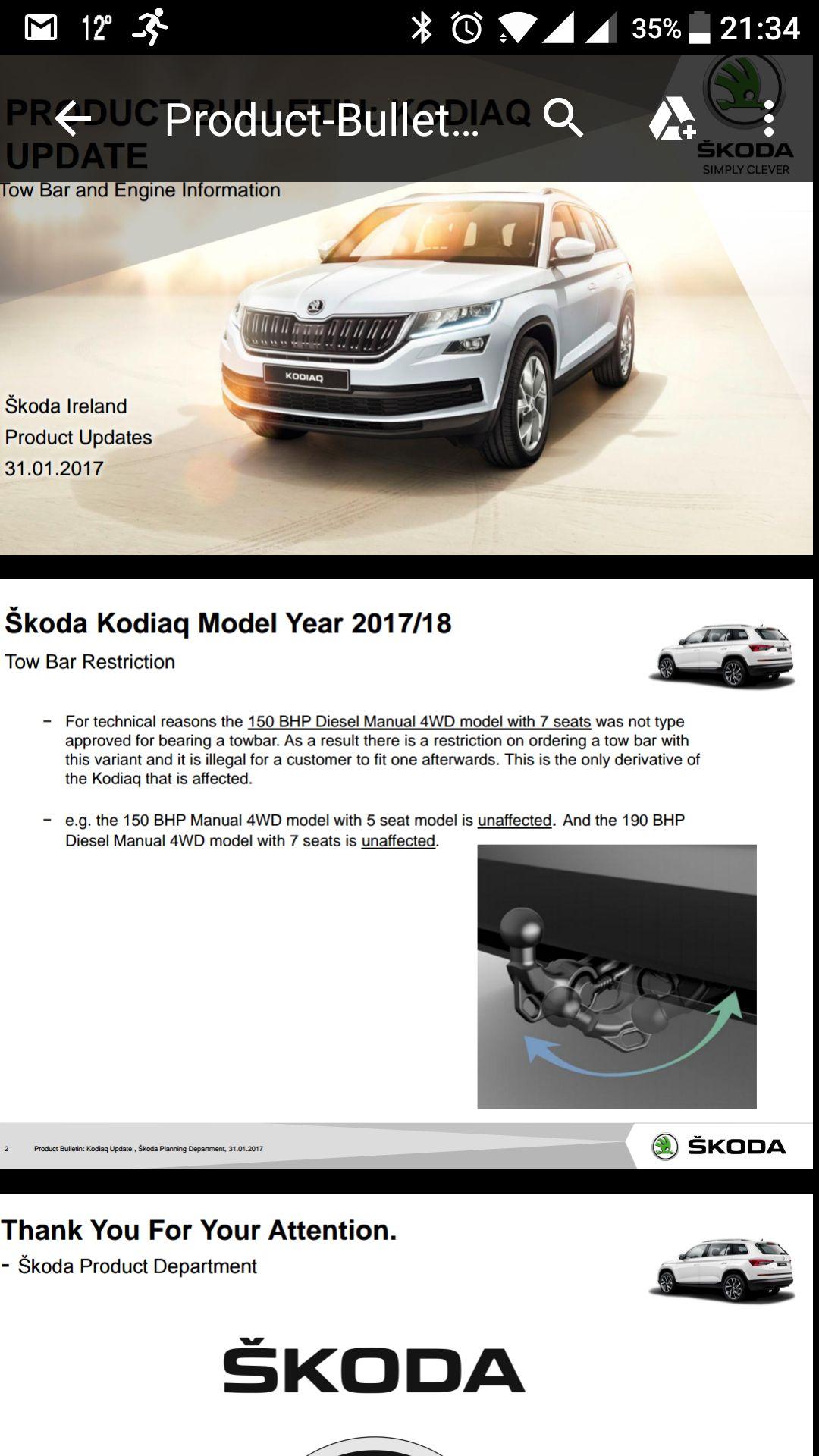 Brink Towbar for Skoda Fabia Estate Combi 2000-2014 Swan Neck Tow ...