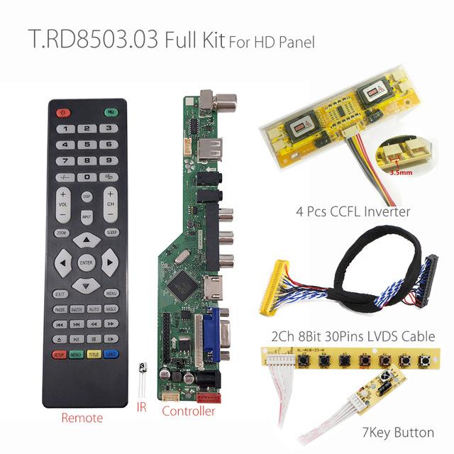Sensational T Rd8503 03 Universal Lcd Led Tv Controller Driver Board Tv Pc Vga Wiring Cloud Faunaidewilluminateatxorg