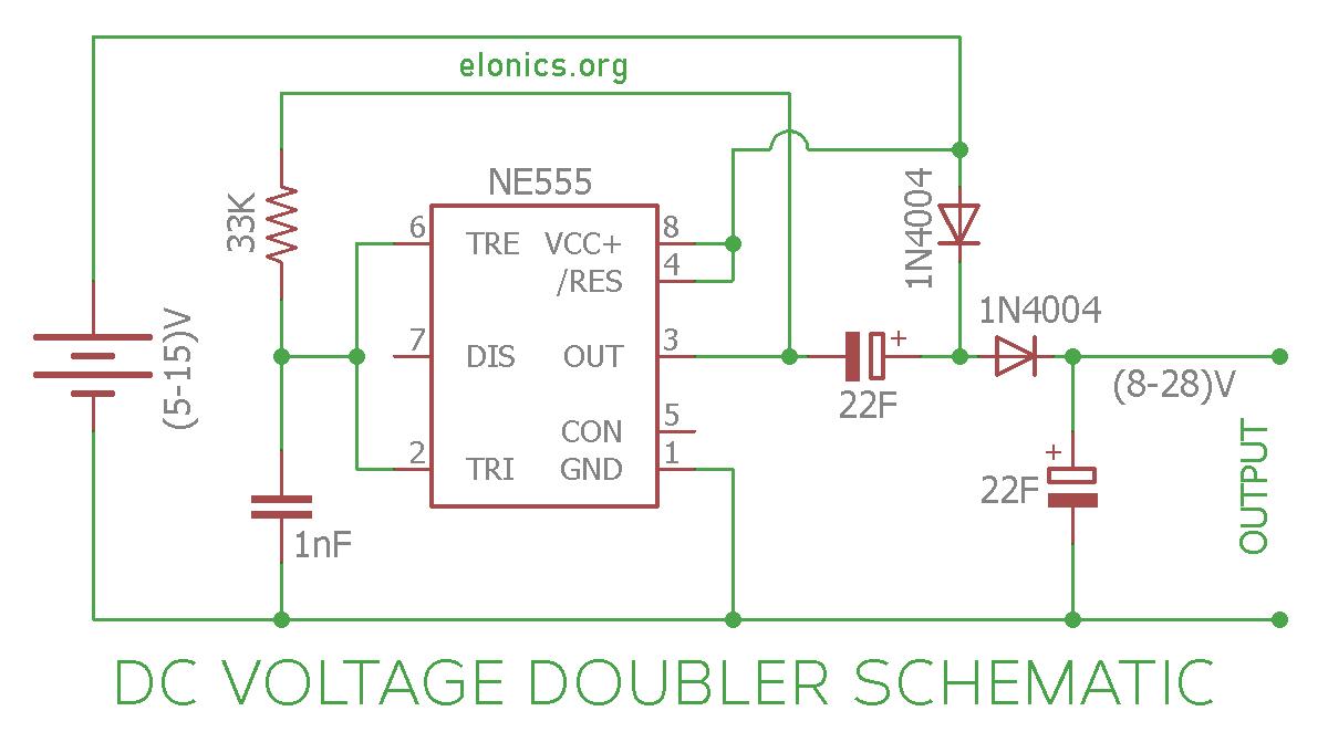 Phenomenal Dc Voltage Doubler Circuit Using 555 Timer Ic Elonics Wiring Cloud Faunaidewilluminateatxorg
