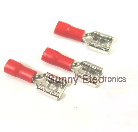 Wondrous Online Shop 1000 Pcs 6 3Mm Red Female Insulated Electrical Spade Wiring Cloud Uslyletkolfr09Org