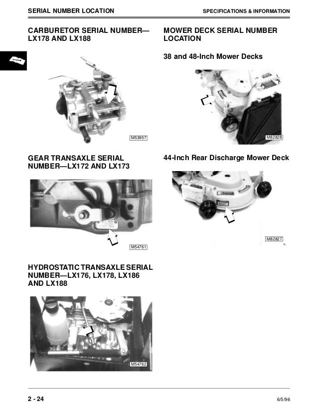 Fabulous John Deere Lx188 Lawn Garden Tractor Service Repair Manual Wiring Cloud Licukshollocom