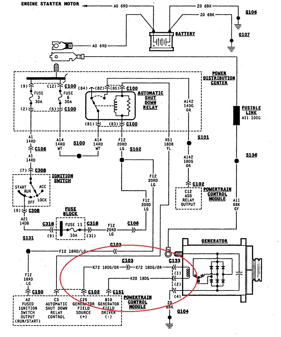 Excellent Xj Alternator Wiring Diagram Wiring Diagram Tutorial Wiring Cloud Gufailluminateatxorg