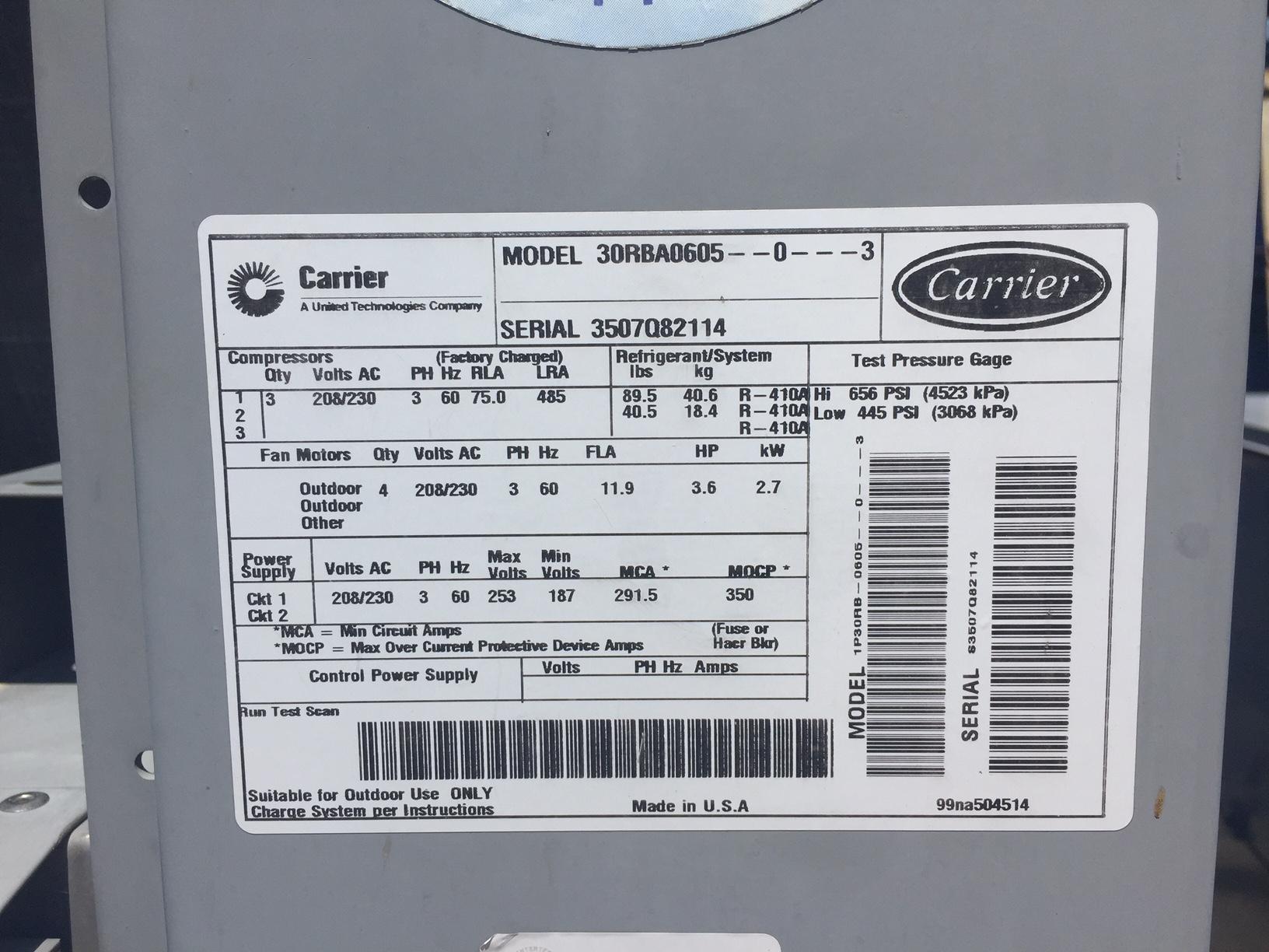 Carrier 30gx Chiller Wiring Diagram