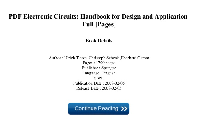 Stupendous Electronic Circuit Handbook Pdf Basic Electronics Wiring Diagram Wiring Cloud Animomajobocepmohammedshrineorg