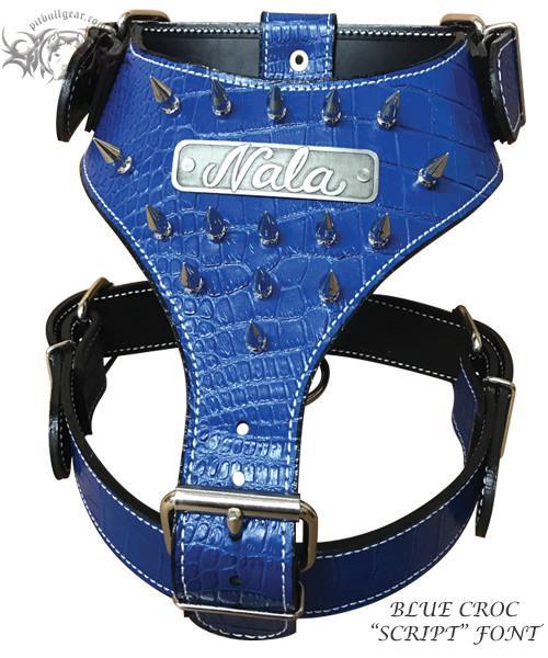 Pleasant Blue Spiked Dog Harness Wire Center Wiring Cloud Icalpermsplehendilmohammedshrineorg